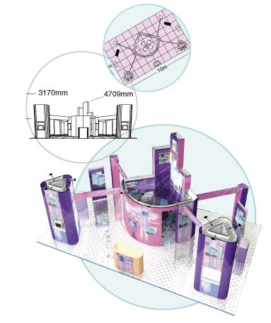 View a prospective exhibition stand layout through computer simulation